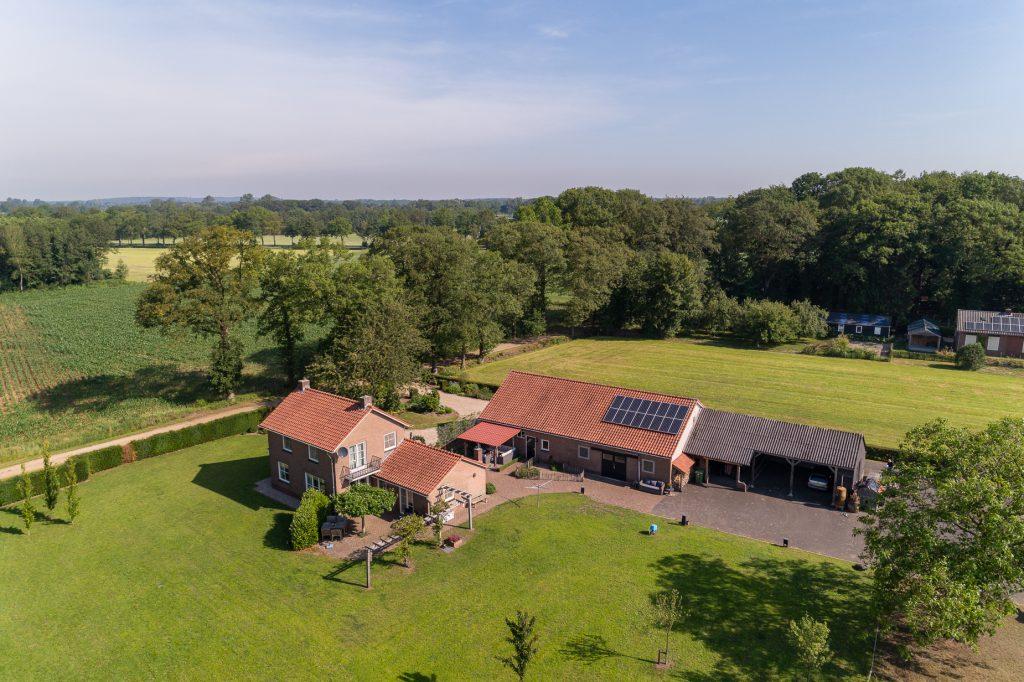 Foto genomen vanaf de drone van Velding